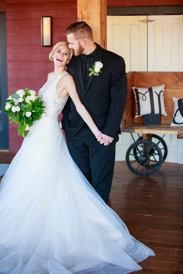 Audrey and Cody's Rustic and Romantic Ivory and Green Barn at Gibbet Hill Wedding