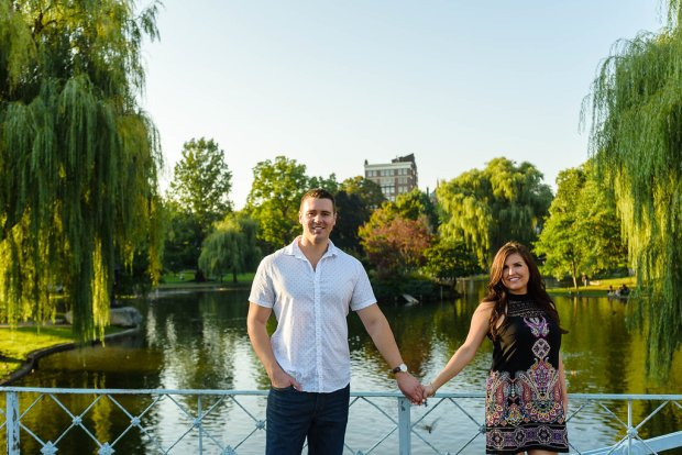 Downtown Boston Engagement Session on The Boston Bride Bridal Blog