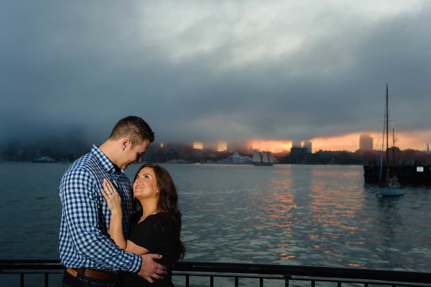 Sunset Pier Park Engagement Session