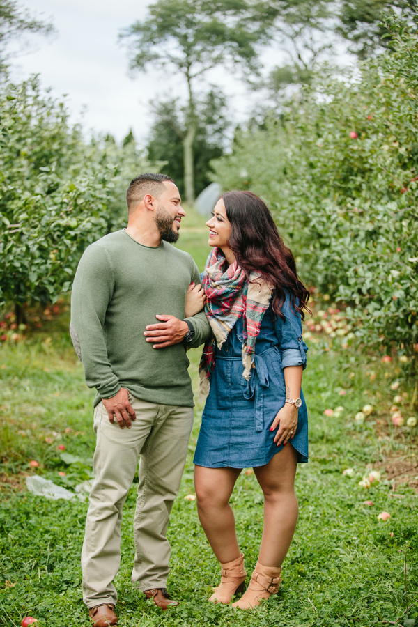 Alexandra and Robbie's Apple Orchard Engagement Session