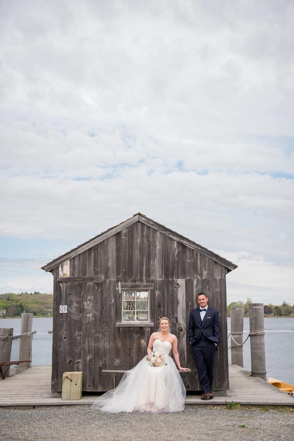 Suzanne and Erik's Mystic Connecticut Latitude 41 Wedding on The Newport Bride