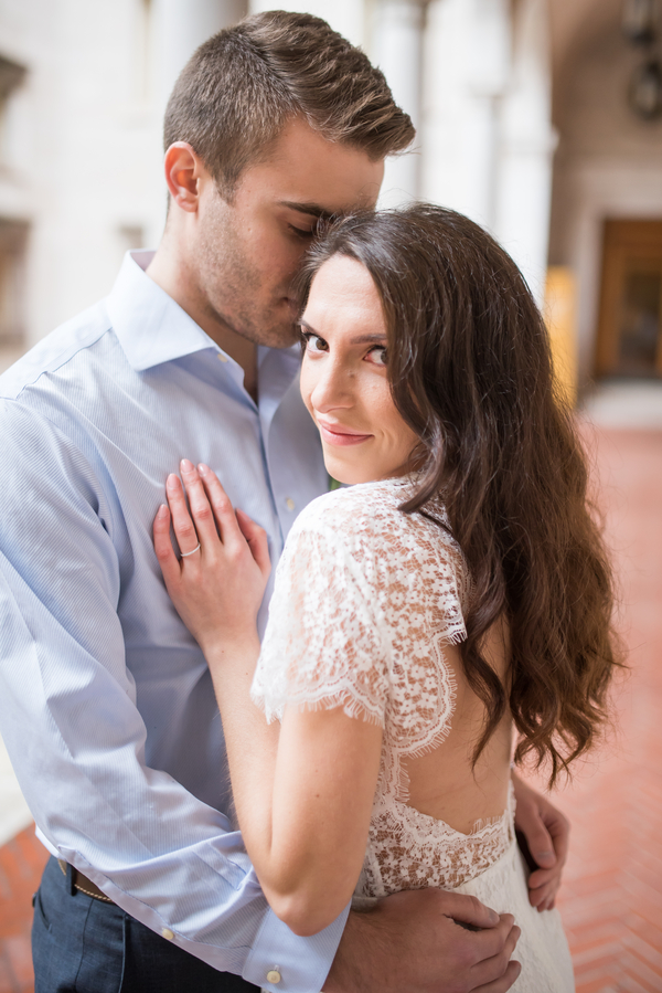 Alison and Kevin's Intimate Elopement at the Boston Public Library on The Boston Bride
