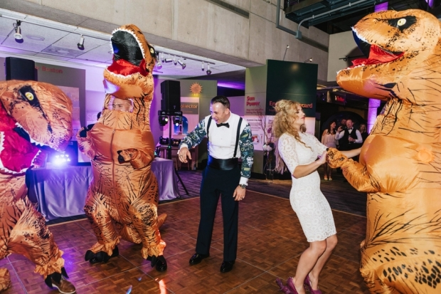 Allie and Austin's Dinosaur Loving Museum of Science Wedding