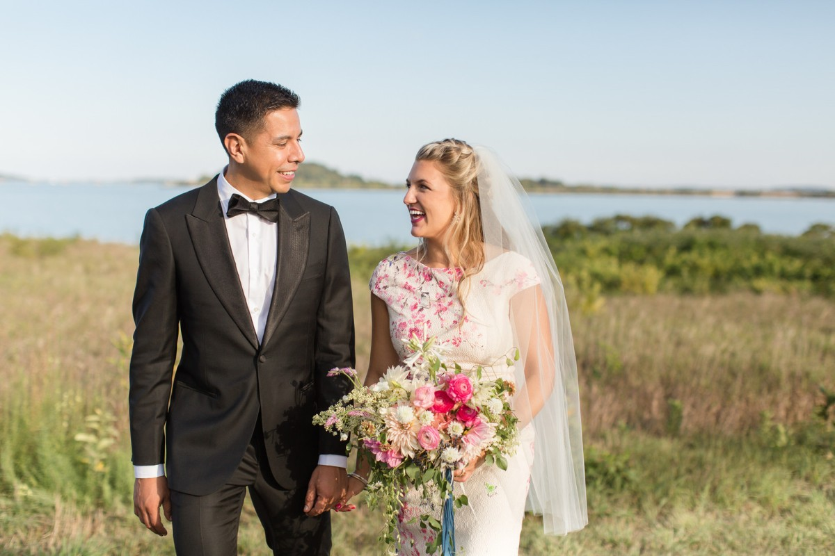 Nyssa and Pedro's Glamping Inspired Thompson Island Wedding on The Boston Bride